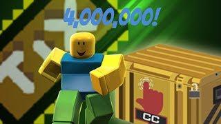 USING 4MILLION REBIRTH TIX! CASE CLICKER 4QD!! Roblox