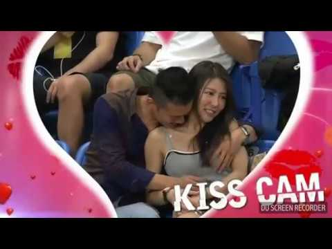 Man Caught Squeezing Girlfriend's Breast On Kiss Cam Of 2017 William Jones Cup