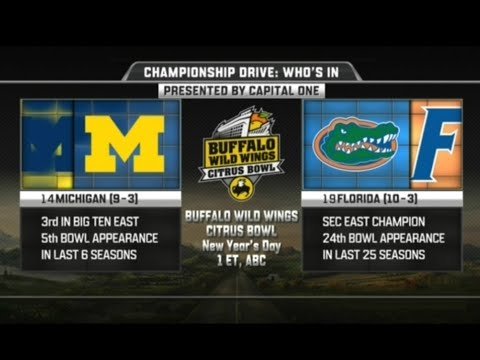 Michigan vs Florida in Citrus Bowl 2016