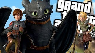 HOW TO TRAIN YOUR DRAGON MOD w/ HICCUP & TOOTHLESS (GTA 5 PC Mods Gameplay)