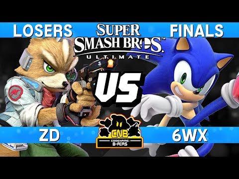 Smash Ultimate Tournament Match - 6WX (Sonic) vs ZD (Fox) - CN:B-Airs 168 Losers Finals