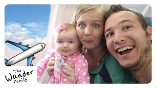 BABY'S FIRST PLANE RIDE!!! | The Wander Family