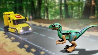 LEGO Dinosaur Attack. Jurassic World 2 🔴 Dinosaurs in the City- 11