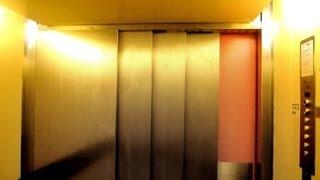 Two 1972 Thomas Schmidt (Schlieren) traction elevators @ Sankt Annæ Gymnasium in Sjælør, Denmark