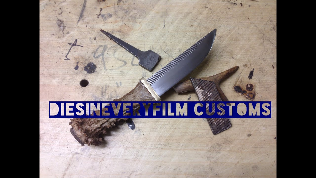 Making a Hidden tang farriers rasp file knife no forge