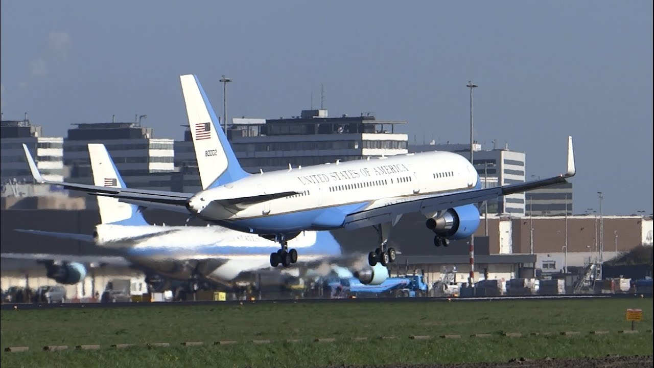 outlet store 3be3f 00093 [FULL HD] USAF Air Force One VC-25 and Air Force Two C-32A at  AMSTERDAM-SCHIPHOL