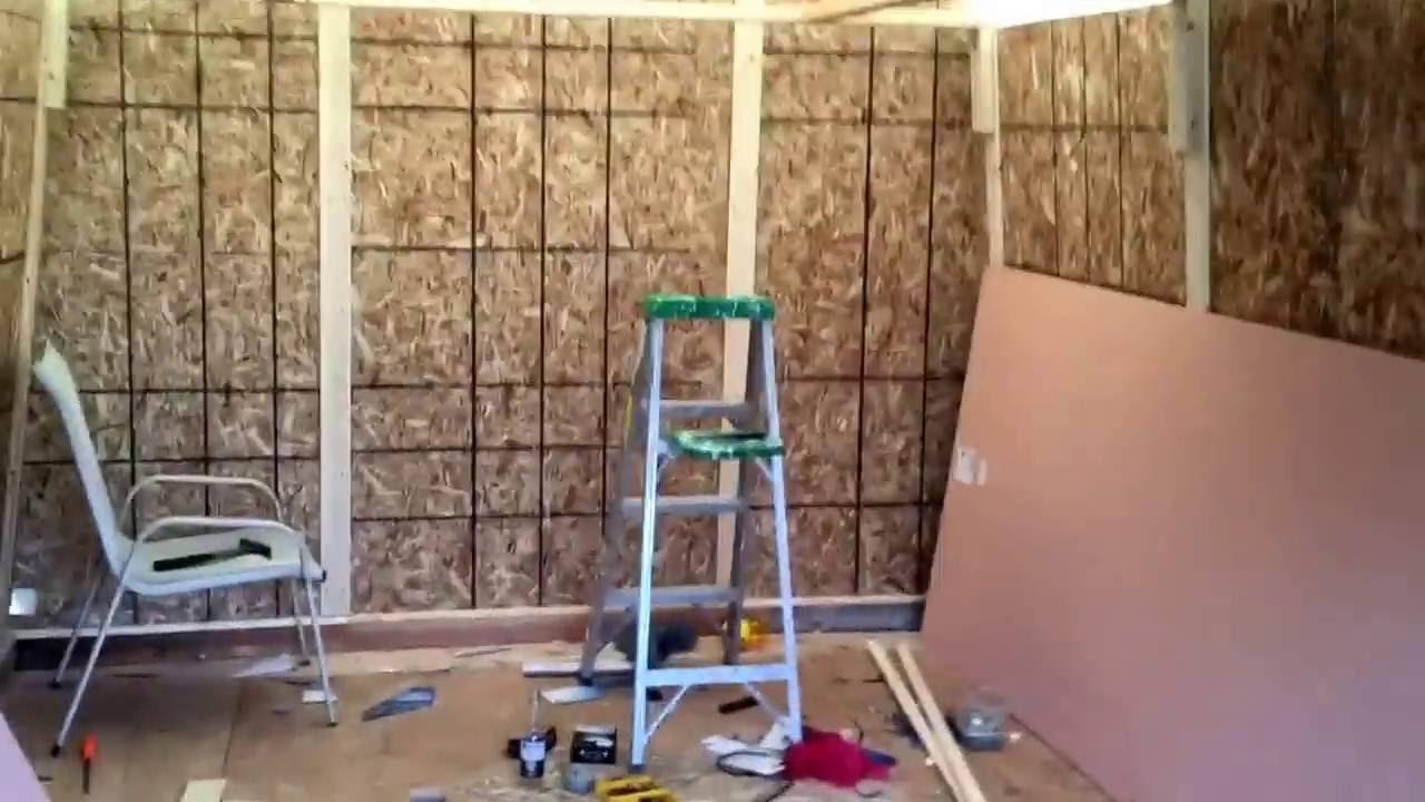 Harbor freight portable garage installation part 8 - YouTube