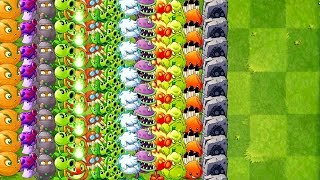 Plants vs Zombies 2 Ultimate Power Every Plant MAX LEVEL - Mix Tiles POWER-UP!