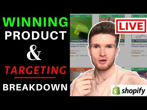 Watch Me Find A Winning Product LIVE & Laser Target It With Facebook Ads | Shopify Dropshipping thumbnail