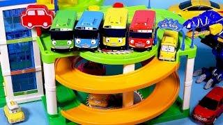 타요 꼬마버스 타요 주차장놀이 Tayo the little bus Parking Tower and car toys