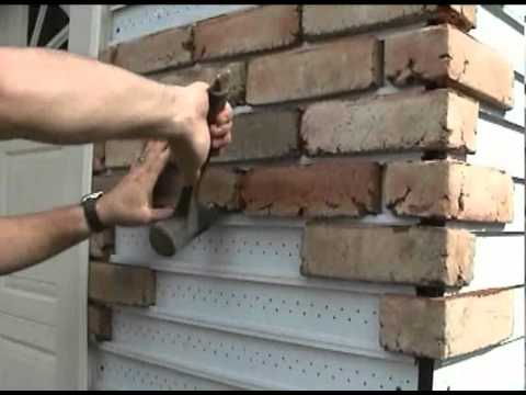 How to replace vinyl siding youtube for What is brick veneer siding