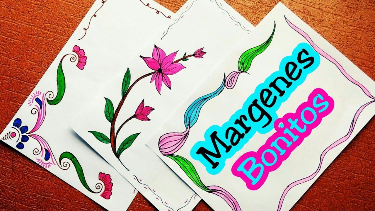 Marcos Coloridos Para Hojas: Margenes Para Cuadernos
