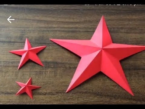 How to make a star from paper || DIY paper star in easy way || stars at night
