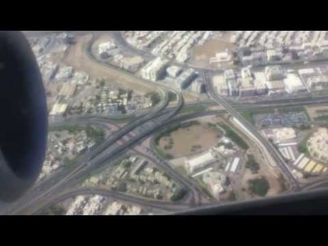 Oman Air Delhi to Muscat Take off and Landing