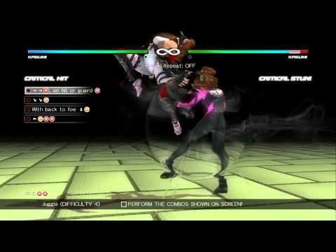 Dead or Alive 5: Last Round - Kasumi Combo Challenge [60 FPS]