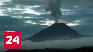 Сразу три вулкана выбросили пепел на Камчатке