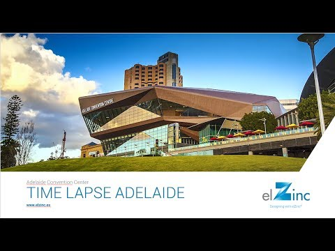 Time Lapse -  Adelaide Convention Center - elZinc Rainbow Red