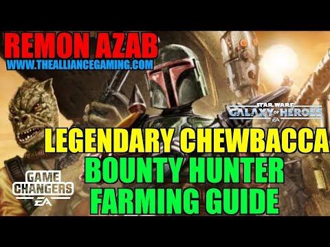 Star Wars Galaxy Of Heroes : Bounty Hunter Farming Guide For Legendary Chewbacca - SWGOH