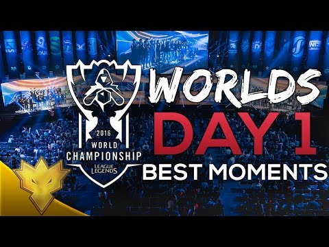 League of Legends Worlds 2016 - Day 1 Top 8 Best Moments (CLG, INTZ, ROX, G2 & More)