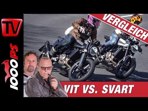 Showdown: Husqvarna Svartpilen 701 vs. Vitpilen 701 - Vergleichtstest