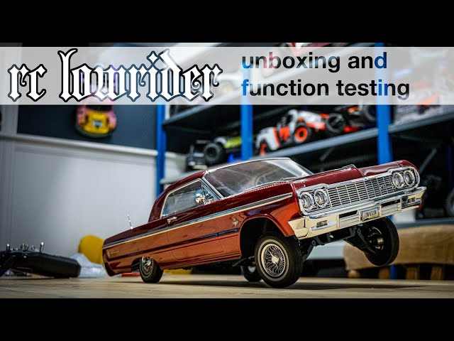 1964 IMPALA RC LOWRIDER - Unboxing and testing the REDCAT SIXTYFOUR