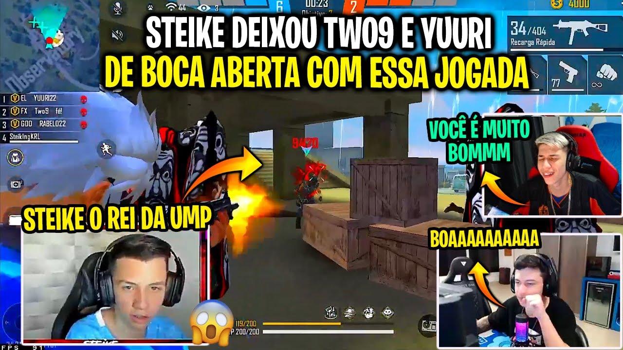Download STEIKE FF FAZ JOGADA ÉPICA E TWO9 E YUURI FICAM IMPRESSIONADOS - STEIKEX O REI DA UMP!