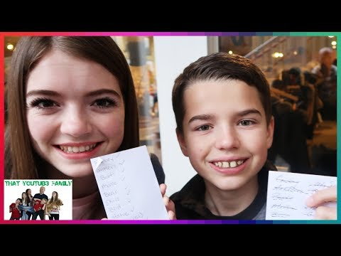 Boys vs Girls SCAVENGER HUNT In A  WESTERN TOWN! / That YouTub3 Family