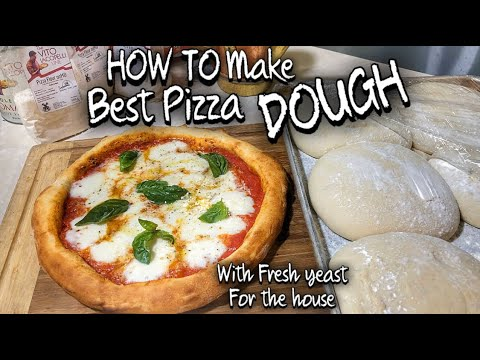 How To Make Perfect Pizza Dough With Fresh Yeast For Home Youtube
