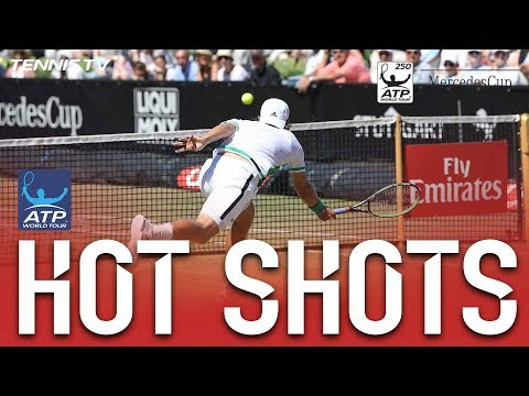 Hot Shot: Lucas Pouille Brings Up Match Point With This Delicate Hot Shot Stuttgart 2017