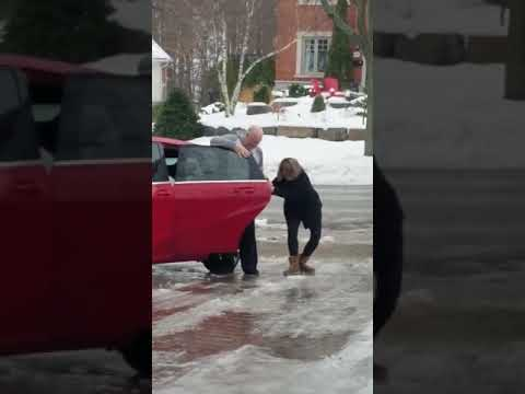 Scott Davidson - WATCH: Woman Slides On Ice...As Family Laughs At Her