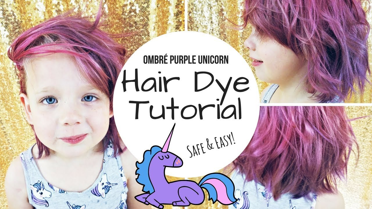 TUTORIAL DIY Dyed Purple Pink Unicorn Hair