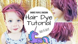 TUTORIAL: DIY Dyed Purple / Pink Unicorn Hair | ON A KID!
