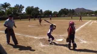 20140615 poway summer heat classic vs clairemont navajo 8u white all stars girls softball