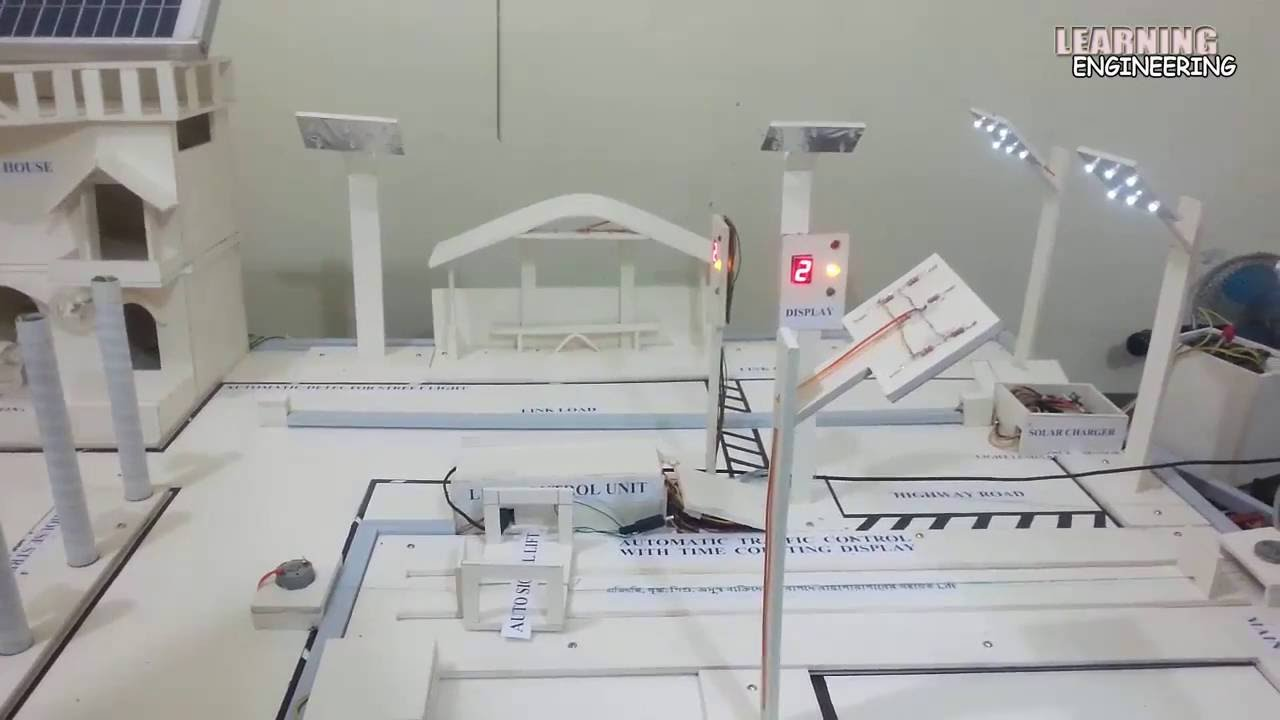 High School Science Fair Project │Energy Saving Smart City│