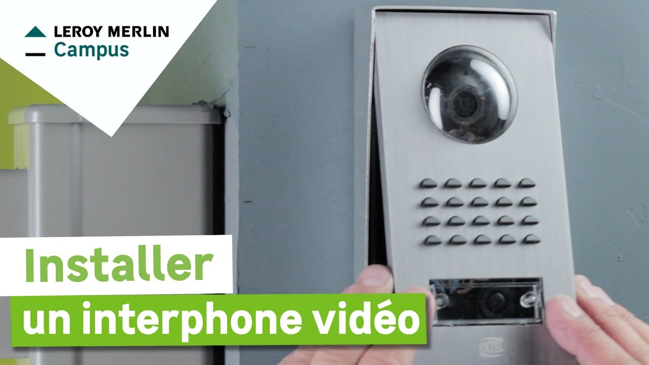 Comment installer un interphone vid o leroy merlin youtube - Interphone leroy merlin ...