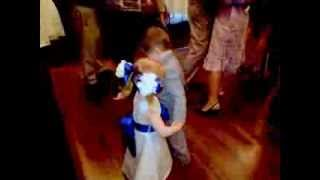 Flower Girl & Ring Bearer Share First Dance & First Kiss