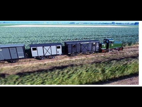 2.7K Strong Green diesel power against  Phantom drone stoomtrammuseum Hoorn