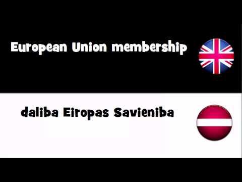 TRANSLATE IN 20 LANGUAGES = European Union membership