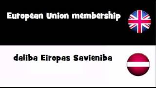 TRANSLATE IN 20 LANGUAGES = European Union membership