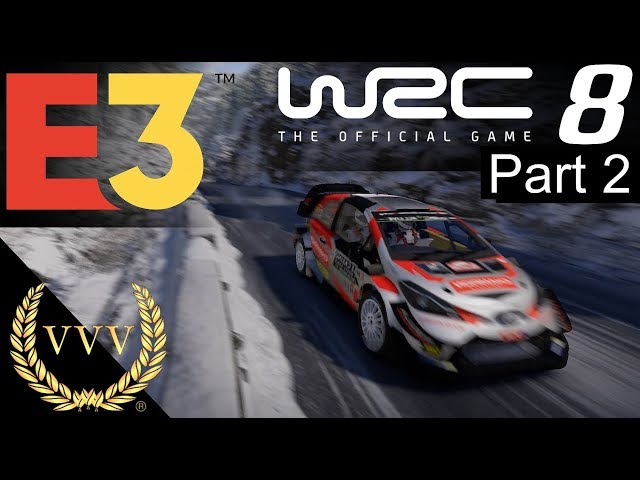 WRC 8 Gameplay - E3 2019 Part 2