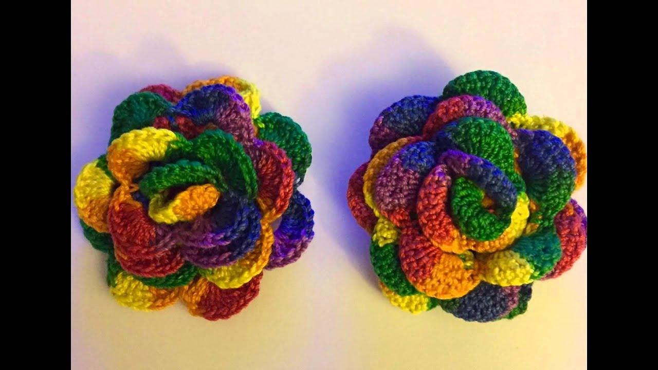 Rainbow Handmade Crochet Roses