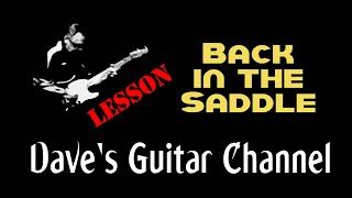 LESSON - Back In The Saddle by Aerosmith (Joe Perry's parts)