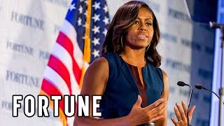 Video Michelle Obama: Fortune's Most Powerful Women show what educated women can do | Fortune download MP3, 3GP, MP4, WEBM, AVI, FLV November 2017
