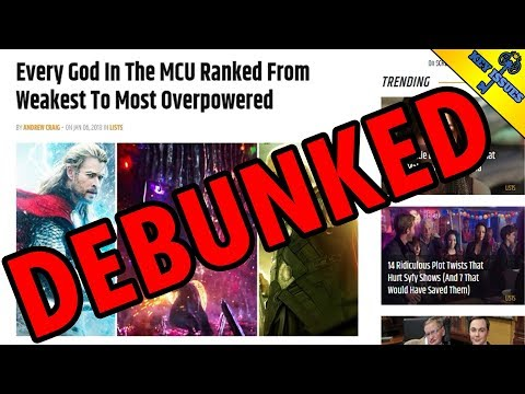 Every MCU god Ranked from Weakest to Strongest (DEBUNKED)