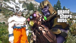 Download Gta 5 Mods Goku From Dragon Ball Z Goku Vs Thanos