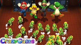 Mario Party - Mario v Luigi v Koopa v Yoshi (Unlucky Player Master Difficult) | CRAZYGAMINGHUB