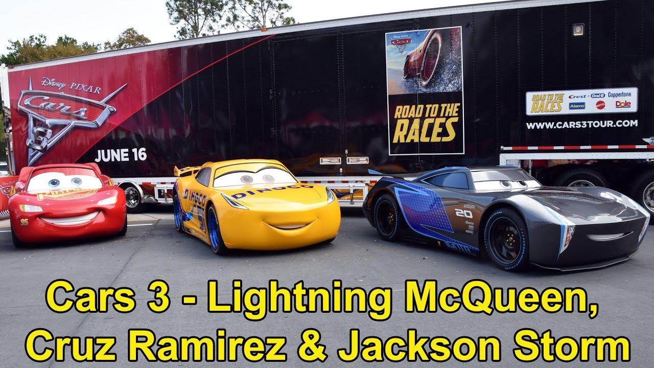 Lightning Mcqueen Cruz Ramirez Jackson Storm From Disney Pixar