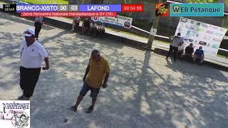 1/2 FINALE NATIONAL TETE A TETE HANDIPETANQUE DE GY : BRANCO-XISTO vs LAFOND