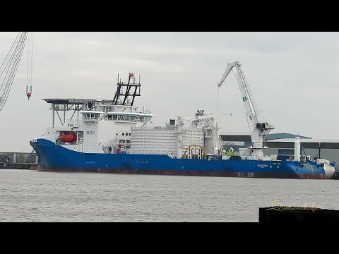 cable layer NKT VICTORIA LAWV7 IMO 9791016 BJ 2017 Emden Kabelleger