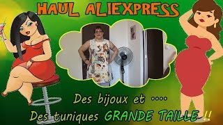 HAUL ALIEXPRESS - ????????bijoux et tuniques GRANDE TAILLE ! / TRY ON SIZE PLUS ????????- Septembr